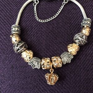 Jewelry - Crown charm bracelet